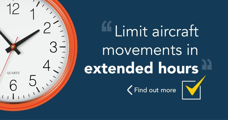Limit aircraft movements in extended hours