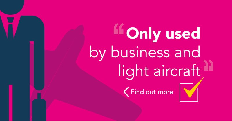Only used by business and light aircraft